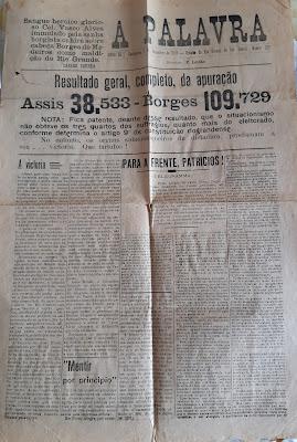 revolução 1923 eleição Borges de Medeiros x Assis Brasil