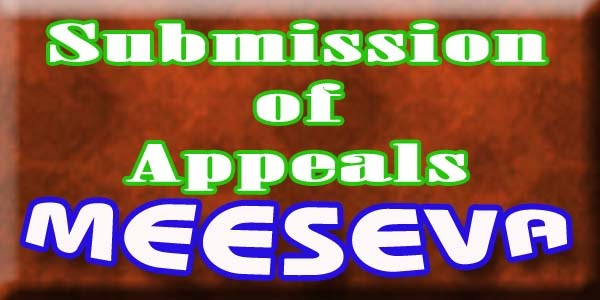 Submission of Appeals Apply  Meeseva