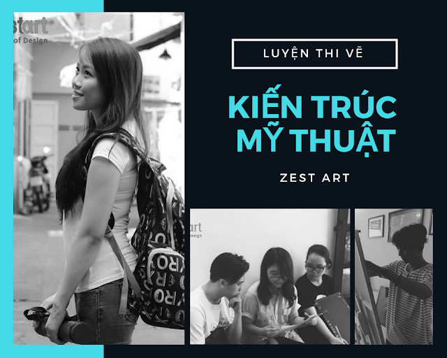 trung tâm dạy vẽ luyện thi đại học khối v h tphcm Zest Art