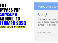 File Bypass Frp Unlock Google Account Samsung Android 10 Universal, Mengirim Link Masuk Browser