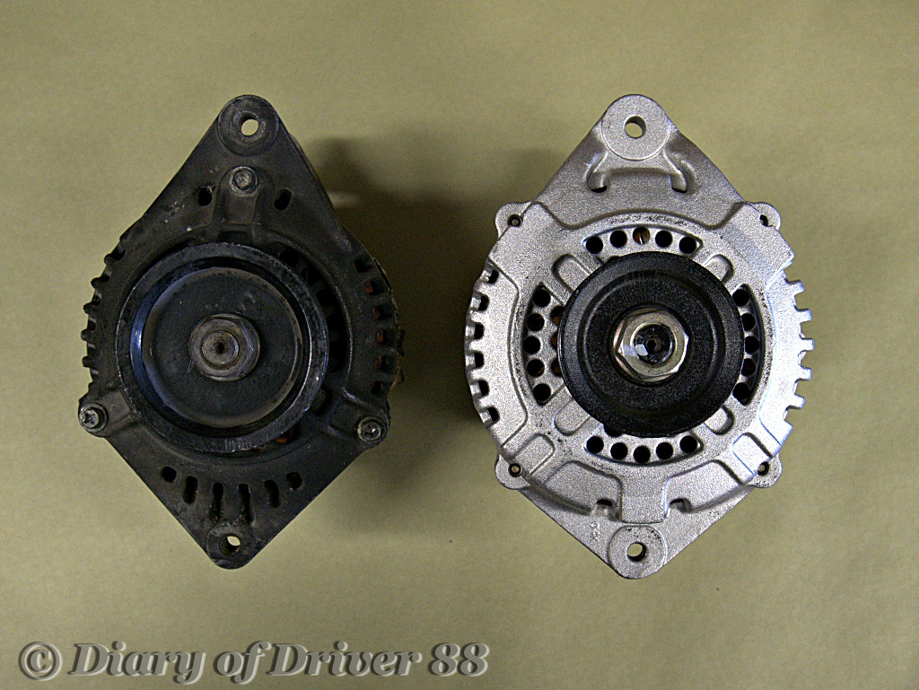Front View Of 300zx Alternator Left And Maxima Right