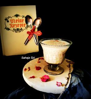 Tapioca pearls dessert