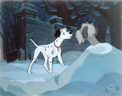 Pongo outside 101 Dalmations 1961 animatedfilmreviews.blogspot.com