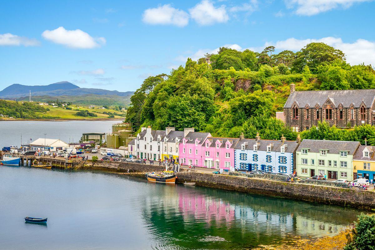 Деревня Порти на острове Скай в Шотландии