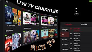 التلفاز الغني بالقنوات اللاتينية والافلام والمسلسلات الحصرية مجانا Rich TV