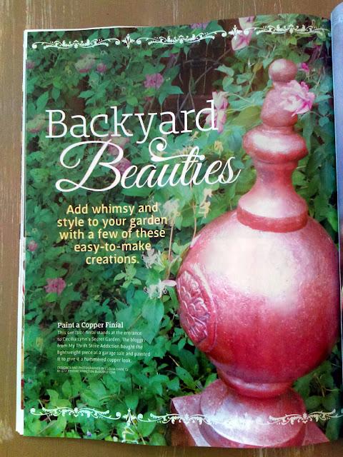 Secret Garden Herbs' copper finial