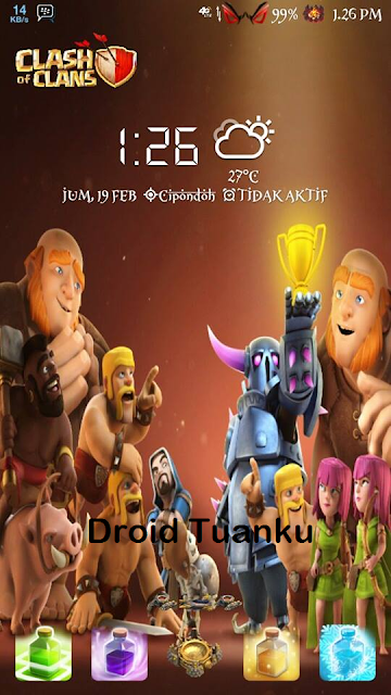 Theme Clash Of Clans (COC) For Asus Zenfone 5