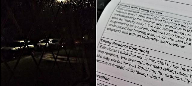 Rainy night and a letter from the hearing people about my youngest