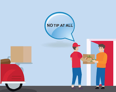 online food delivery without tip