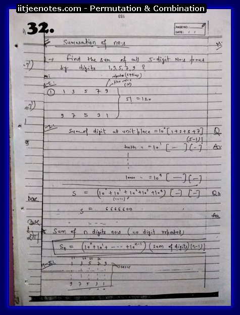 permutation and combination notes
