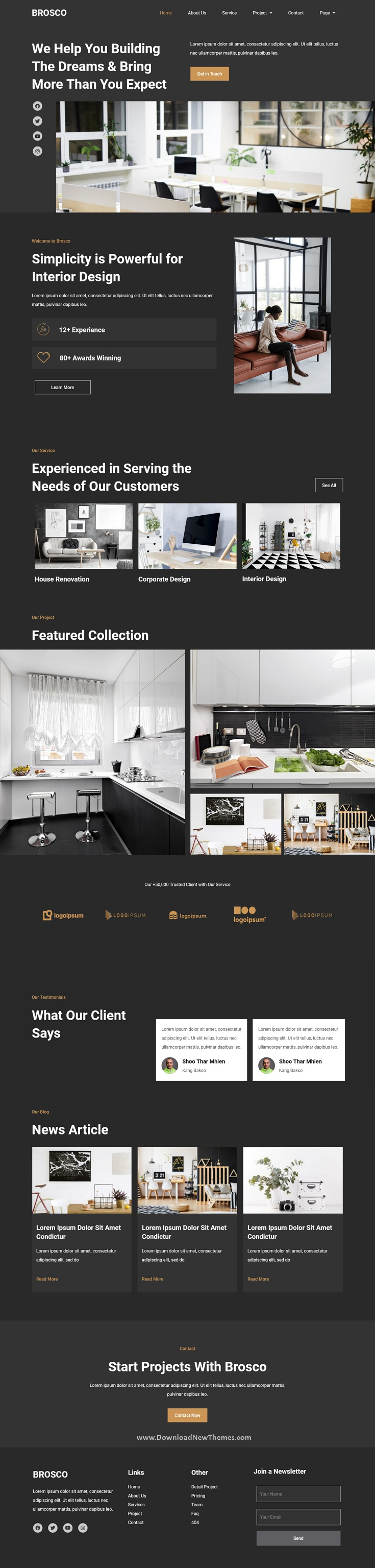 Architecture and Interior Elementor Template Kit