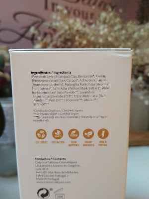 Carolina - detoxikačná čokoládová pleťová maska Catarina Barbosa zloženie