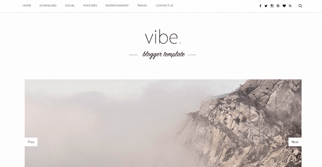 Vibe Blogger Template