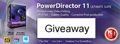 CyberLink Power Director Ultimate Suite Giveaway