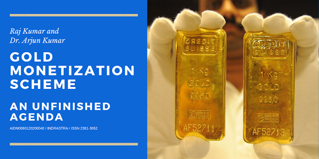 Gold Monetization Scheme: An Unfinished Agenda