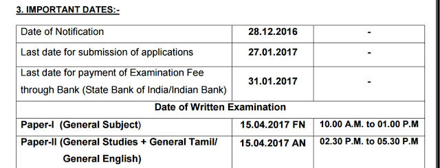 TNPSC Jailor Recruitment Dates