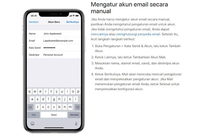 Cara Membuat Email Baru di iPhone