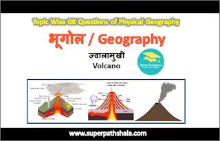 ज्वालामुखी (Volcano) GK Questions SET 1