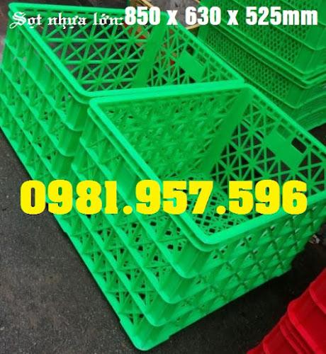 Sọt nhựa 8 bánh xe, sóng nhựa công nghiệp rỗng lớn