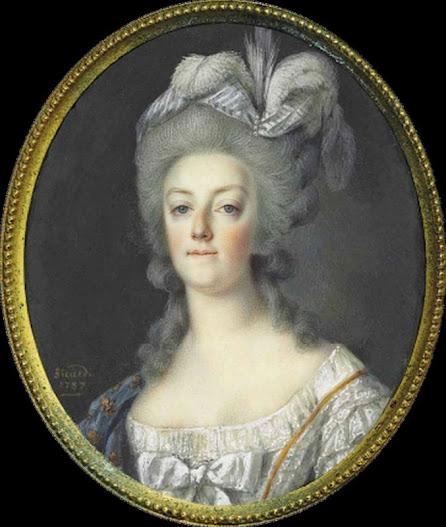 Miniature of Marie Antoinette (by Louis Marie Sicard, 1787)