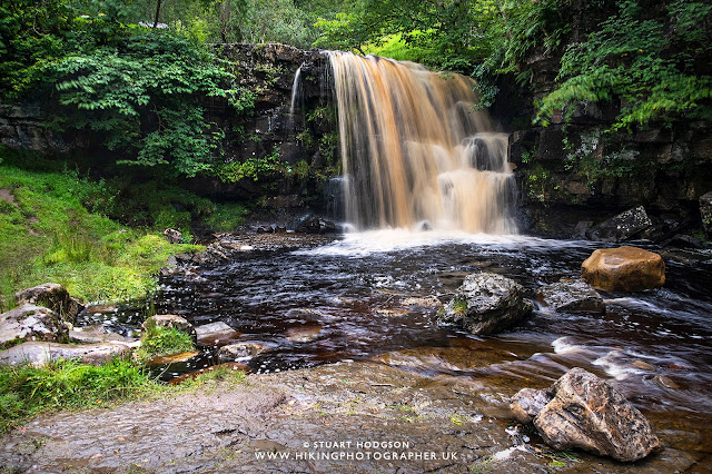 East Gill Force Keld Waterfall Walk Swaledale Richmond near Tan Hill Yorkshire Dales best route map