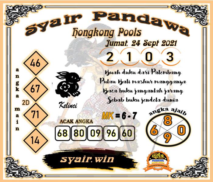 Pandawa HK Jumat 24 September 2021 -