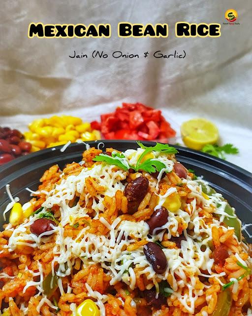 Mexican rice , mexican bean rice , no onion no garlic bean rice , mexican rajma rice , mexican rice using rajma,how to make mexican rice at home, home made mexican burrito rice bowl , burrito rice bowl,.burrito bowl