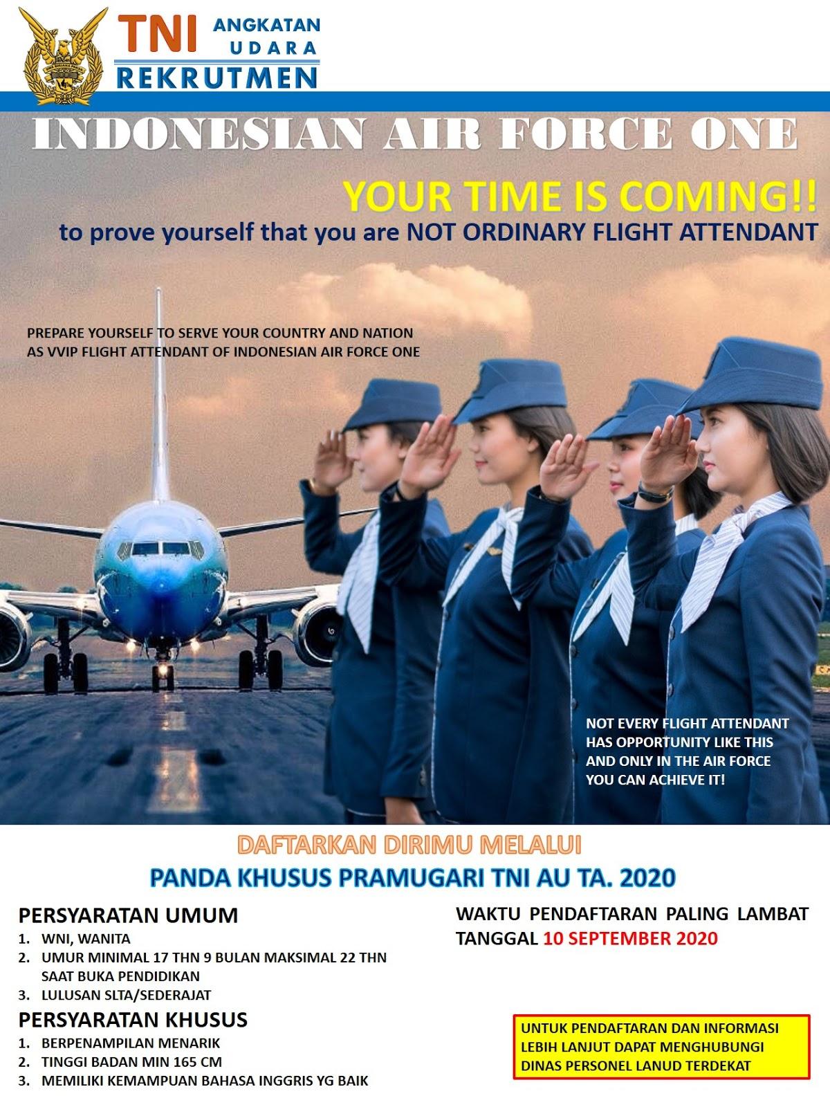 Calon Panda Khusus TNI Angkatan Udara Tingkat SMA SMK Tahun