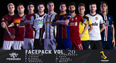 PES 2020 Facepack Vol 20 by Jonathan Facemaker