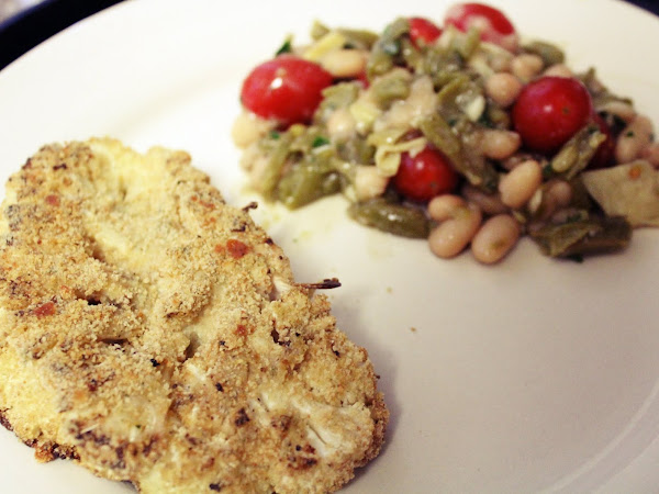 Meatless Monday meets Game of Thrones (Cauliflower Steaks with Tomato two bean salad)