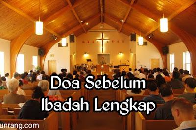 Doa kristen sebelum ibadah