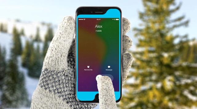 Pellicole per telefoni, in silicone da usare con guanti