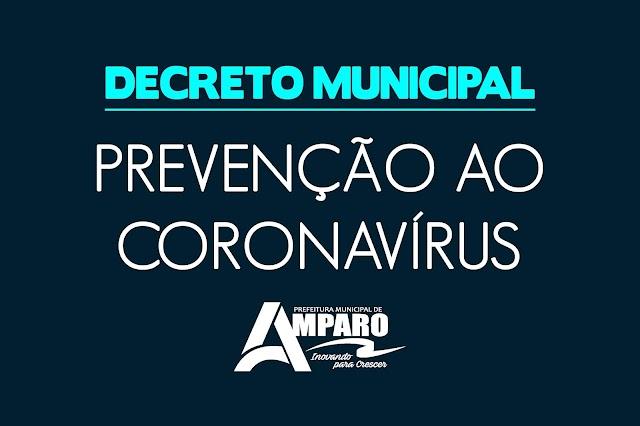 Prefeitura de Amparo publica novo decreto com Medidas de urgentes para o enfrentamento do Coronavírus