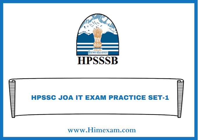 HPSSC JOA IT EXAM PRACTICE SET-1