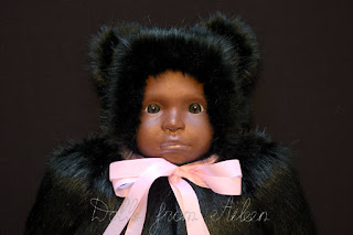 ooak lifesize baby teddy bear doll's face