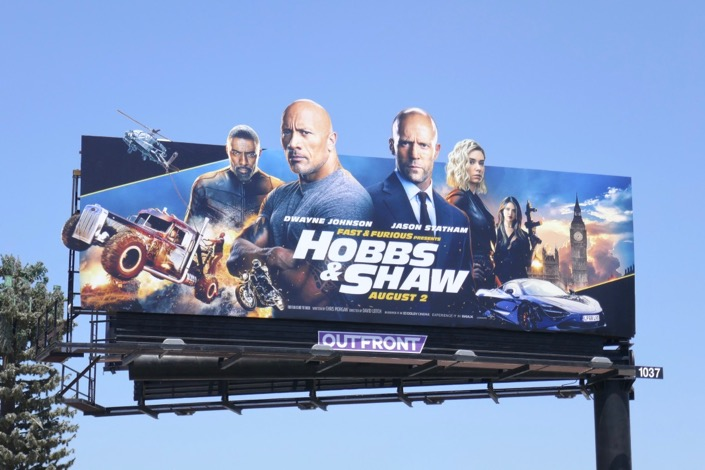 Hobbs Shaw extension cut-out billboard
