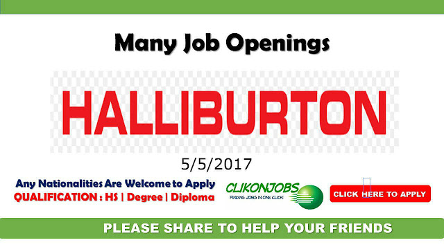 Latest Job Openings at Halliburton company at Middle East,Europe and America