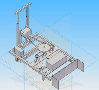 3D CAD model of Animal Shed Cleaning Machine