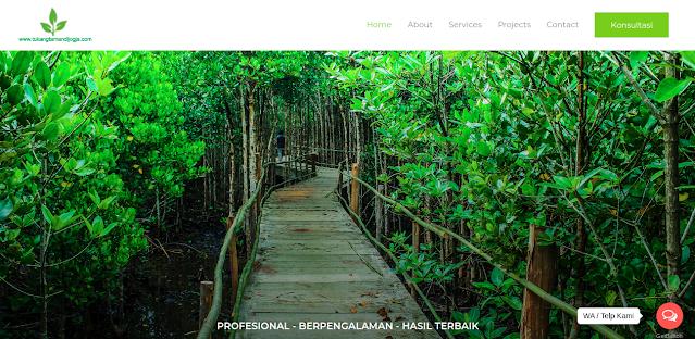 Tampak website Tukang Taman Jogja, foto: screenshots