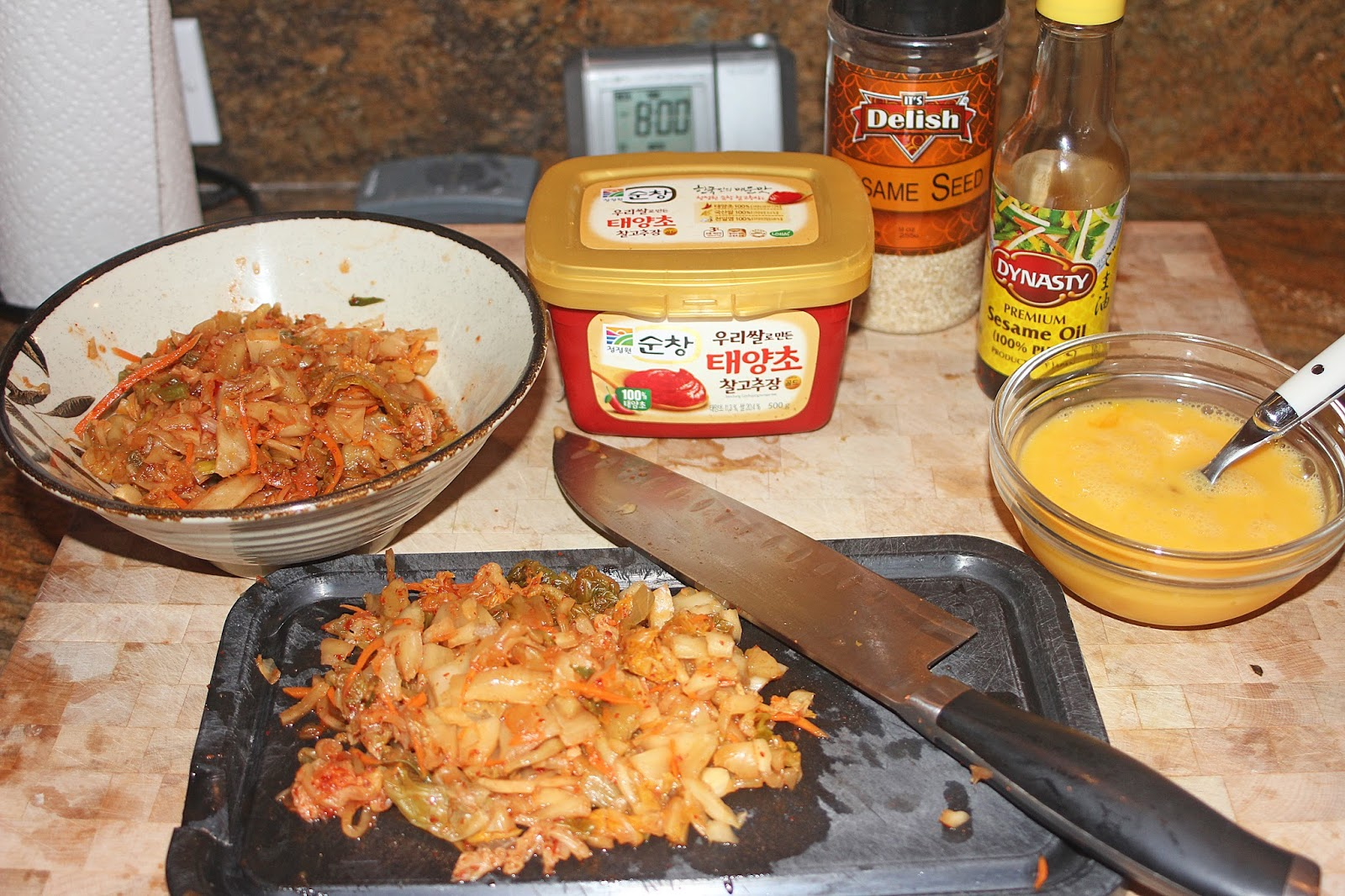 The Grub Files: Cooking with Camissonia: Kimchi Fried Rice ...
