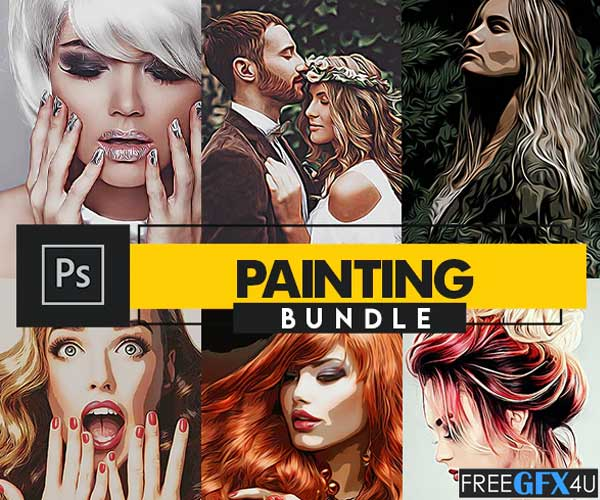 Painting Photoshop Actions Bundle