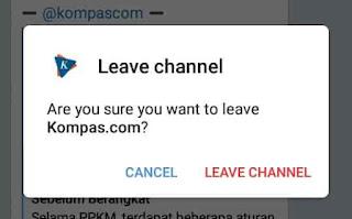 ingin keluar dari channel telegram