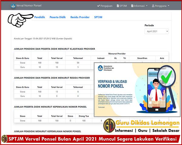 SPTJM Verval Ponsel Bulan April 2021 Muncul Segera Lakukan Verifikasi