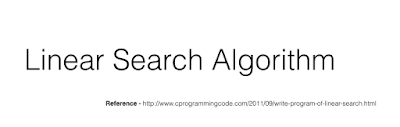 Linear Search Algorithm