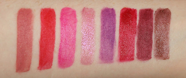 Urban Decay Vice Lipstick Swatches Swatch Backtalk 714 Firebird Big Bang Pandemonium Rock Steady Disturbed Conspiracy