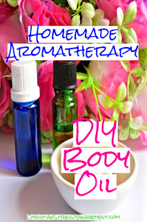 Homemade aromatherapy recipe for DIY body massage oil