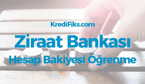 Ziraat Bankası Bakiye Öğrenme