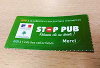 autocollant STOP PUB pour boite aux lettres