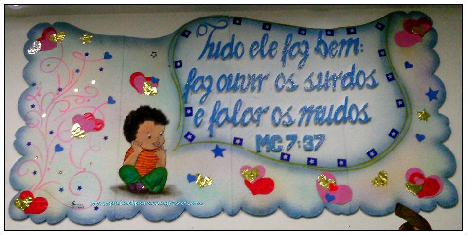 painel infantil para festividade da igreja