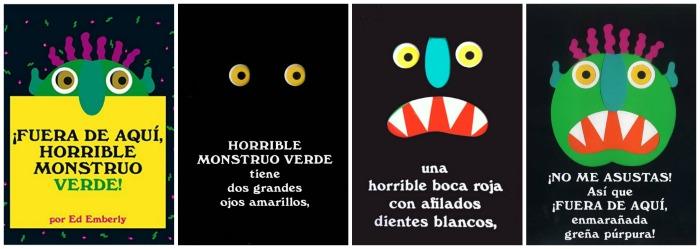 """selección cuentos sobre miedo a los monstruos y como superarlo: ¡fuera de aquí, horrible monstruo verde!"""""""